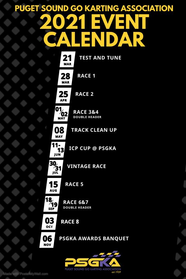 Updated 2021 Race Calendar